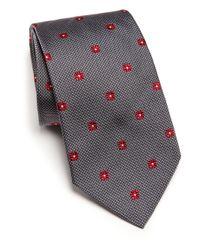 Ike Behar - Gray Neat Box-print Silk Tie for Men - Lyst