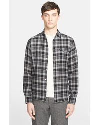 Norse Projects - Gray 'anton' Trim Fit Plaid Wool Shirt for Men - Lyst