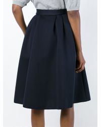 flared midi skirt - Blue P.A.R.O.S.H. Best Free Shipping Hot Sale For Sale Official Site Oj8JX