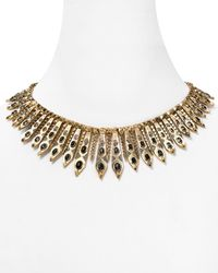 """House of Harlow 1960 - Metallic 1960 Gypsy Feather Pave Necklace, 16"""" - Lyst"""