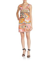 MSGM - Multicolor Print Dress - Lyst