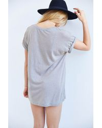 Truly Madly Deeply - Gray Scoopneck Slouch Pocket Tee - Lyst