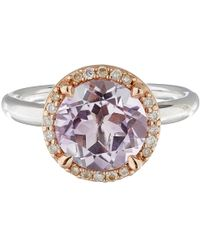 Dinny Hall - Pink Rose De France And Diamond Susu Ring - Lyst