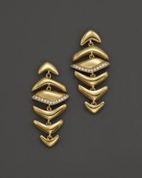 Kara Ross - Metallic 18K Yellow Graduating Hydra Earrings With Diamonds - Lyst