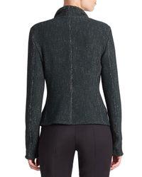 Akris Punto - Green Tweed Moto Jacket - Lyst