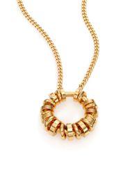 Chloé - Metallic Freja Molded Rings Pendant Necklace - Lyst