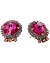 DANNIJO | Pink Bracco Earrings | Lyst