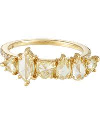 Sharon Khazzam - Metallic Diamond Ring - Lyst