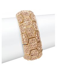 Saks Fifth Avenue | Metallic Pavã© Rose Goldtone Stretch Bracelet | Lyst