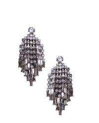 AKIRA - Chandelier Earrings in Black - Lyst