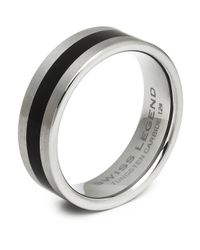Swiss Legend - Metallic Men's Tungsten Carbide Ring - Lyst