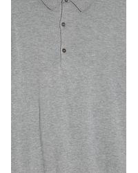 John Smedley - Gray Bradwell Polo Shirt for Men - Lyst