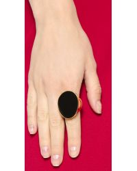 Kenneth Jay Lane Oversized Ring - Black
