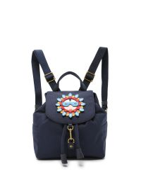 Tory Burch | Blue Flower Child Applique Backpack | Lyst