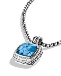 David Yurman - Albion Pendant With Blue Topaz & Diamonds - Lyst