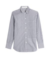 Victoria Beckham - Blue Striped Cotton Shirt - Stripes - Lyst