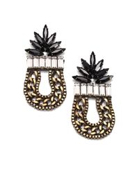DANNIJO | Black Valentia Earrings | Lyst