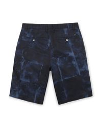 Calvin Klein - Blue White Label Abstract Marble Print Cotton Shorts for Men - Lyst