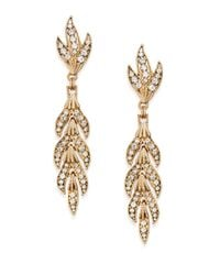 Saks Fifth Avenue - Metallic Sparkle Leaf Drop Earrings - Lyst