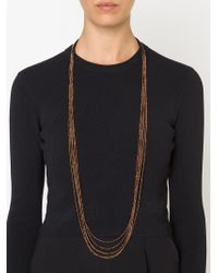 Brunello Cucinelli - Black Beaded Necklace - Lyst