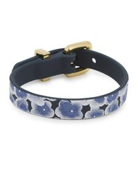 Marc By Marc Jacobs | Aki Blossom Blue Rubber Braclet | Lyst