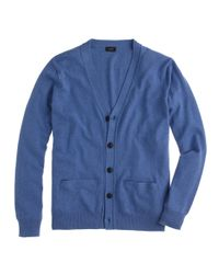 J.Crew - Blue Cotton-Cashmere Cardigan for Men - Lyst
