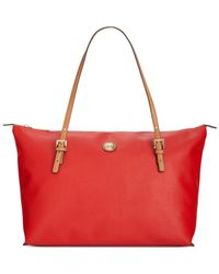 Tommy Hilfiger - Red Th Shopper Pebble Large Tote - Lyst