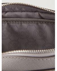 Michael Kors | Gray Jet Set Leather Cross-Body Bag | Lyst