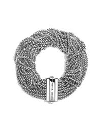 David Yurman | Metallic Multi-row Box Chain Bracelet | Lyst