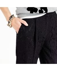 J.Crew - Black Collection Cropped Pant In Leavers Lace - Lyst