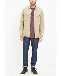 Forever 21 - Natural Two-pocket Cotton Shirt for Men - Lyst
