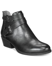 Kenneth Cole Reaction | Black Raw Lucky Booties | Lyst