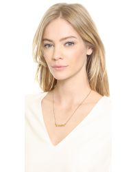 Marc By Marc Jacobs - Metallic Twisted Nameplate Necklace - Oro - Lyst