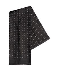 Z Zegna | Black Silk Jacquard Tubular Scarf for Men | Lyst