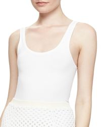 Theory | White Fliore Tank Top | Lyst
