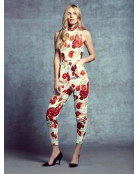 Free People - Red Chicago Pantsuit - Lyst