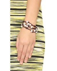 Chan Luu - Cultured Freshwater Pearl Wrap Bracelet - White/Brown - Lyst
