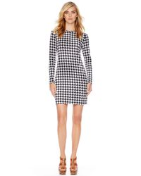 Michael Kors - Blue Michael Printed Fitted Dress - Lyst