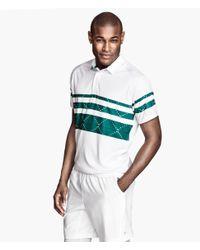 H&M - White Tennis Shirt for Men - Lyst