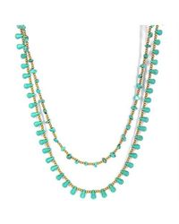 Aeravida | Green Harmonius Cascades Turquoise Stones Statement Necklace | Lyst