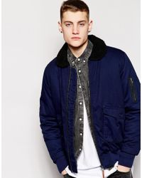 Bellfield - Blue Flight Jacket for Men - Lyst