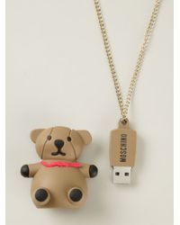 Moschino - Brown Bear Pendant Necklace - Lyst