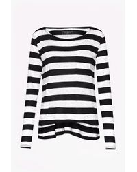 French Connection | Black Horizon Stripe Long-sleeved Top | Lyst