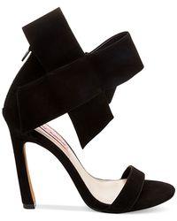 Betsey Johnson - Black Frisk Suede Dress Sandals - Lyst
