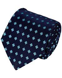 Barneys New York - Blue Floral Satin Neck Tie for Men - Lyst