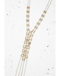 Forever 21 - Metallic Matchstick Lariat Necklace You've Been Added To The Waitlist - Lyst