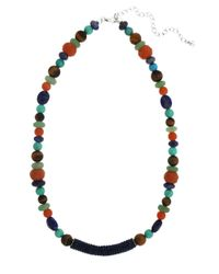 Lord & Taylor | Multicolor Mixed Gemstone Bead And Tube Necklace | Lyst