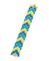 Trina Turk | Blue Mosaic Flex Bracelet | Lyst