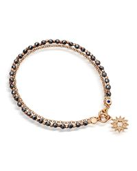 Astley Clarke | Black Rose Gold Vermeil Sun Friendship Bracelet | Lyst