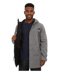 The North Face | Gray Apex Bionic Trench Coat for Men | Lyst